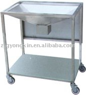 stainless steel operation washing trolley