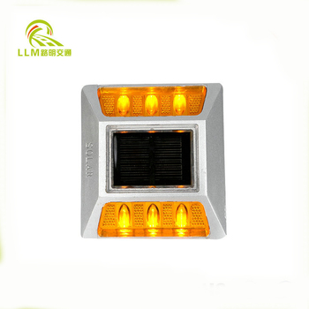 Aluminum Alloy Solar Road Stud with Shank Single-Side 3 LED 130*120*75mm