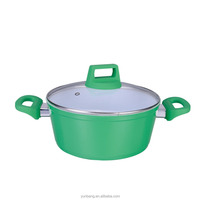 forged aluminum 2 pcs set ceramic coating casserole with lid