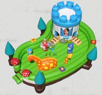 kids bouncy castle/castle tent/kids plastic toy castle