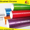 Car Wrapping Brushed Chrome sticker leather car wrap