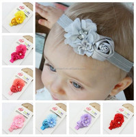 Newborn Rose Flower Hair Accessories Headwear baby rhinestone headband Infant Children Baby Girl Headband