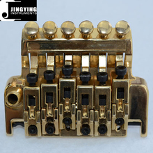Floyd Rose Double Locking Systyem,Gold Color Steel+Zinc Alloy Material 6 Strings Electric Guitar Double Tremolo Bridge