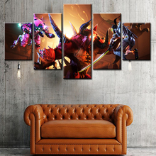 custom 5 panels group canvas wall art painting printed giclee printing