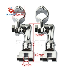 "Wholesale Aftermarket Motorcycle Parts Motorcycle Foot Pegs Mounts with 1"" Magnum Clamps for Harley Davidson"