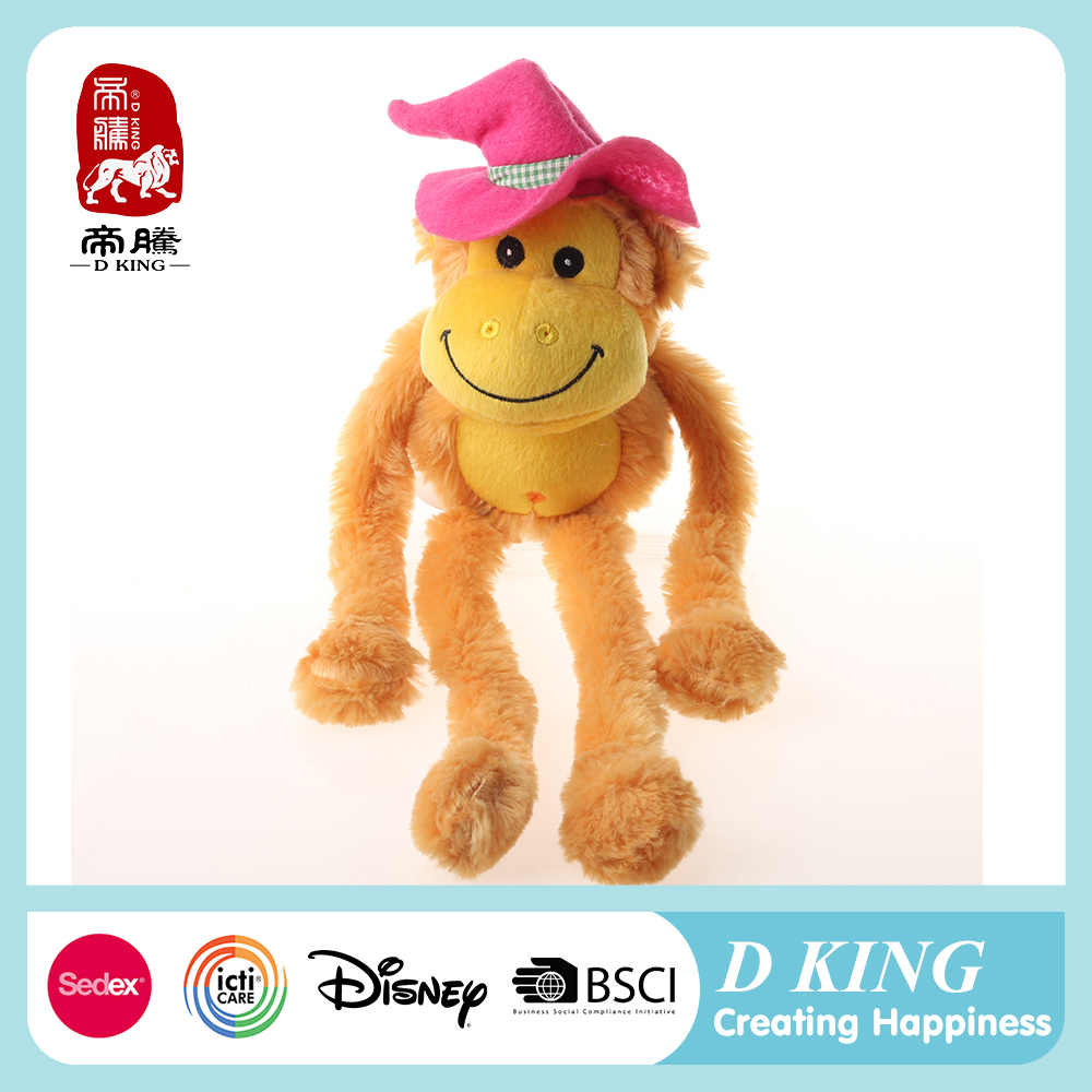 2016 China lovely custom stuffed animals good quality plush monkey toy
