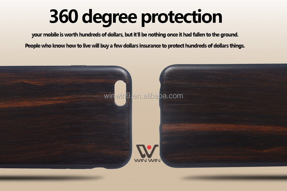 wood surface with TPU base case for iPhone 6,mobile cover