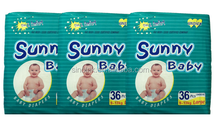sunny baby baby diapers 48pcs 3-7kg small Good absorbent disposable diapers