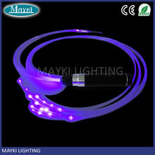 Space whip LED fiber optic whip with end glow fiber flashing effect dance using