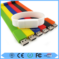 Get free samples cheapest silicone bracelet usb pen drive