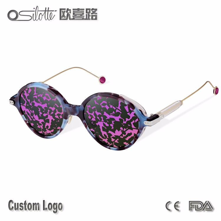 1:1 High quality Famous france brands sunglasses women umbrage new style colorful sunglasses 2017