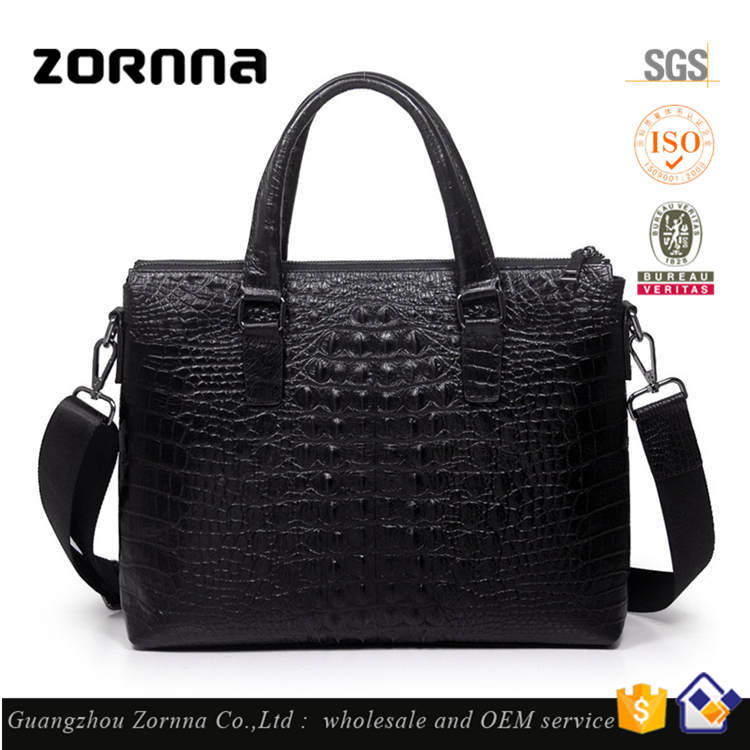 New Products 2016 Innovative Product Crocodile briefcase Genuine Leather Bag Men