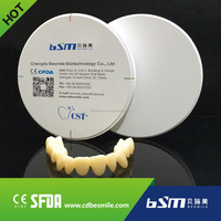 BSM 3d dental scanner use good nature zirconia for dental artificial teeth