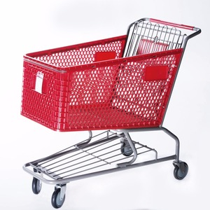 Hot sale America style plastic shopping trolley