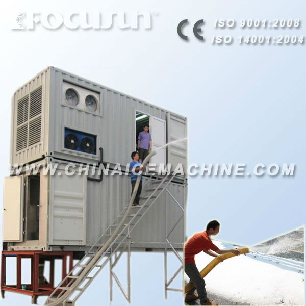 Snow and ice melting system, snow ice maker machine