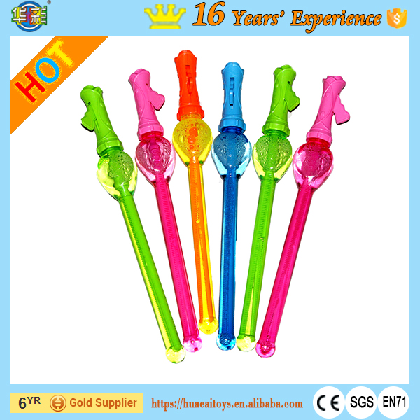 Wholesale Plastic Western Soap Bubble Sword Bubble Wand Heart Shape Outdoor Toys for Kids