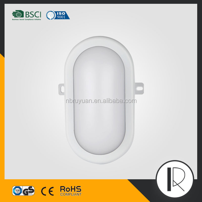 m061215 European LED Bulkhead Light TUV Approval Waterproof LED Ceiling Light CE RoHS plastic replacement cover ceiling light