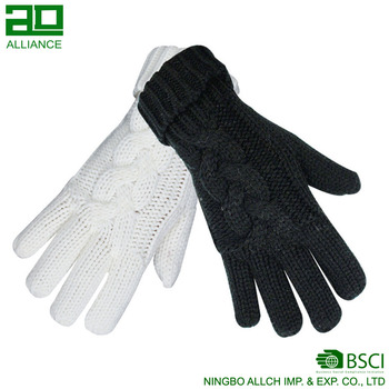 Jacquard Iceland Yarn Winter Hand Knitted Gloves
