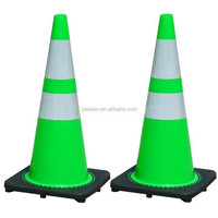 Lime Green or Blue Color PVC Plastic Traffic Safety Cone