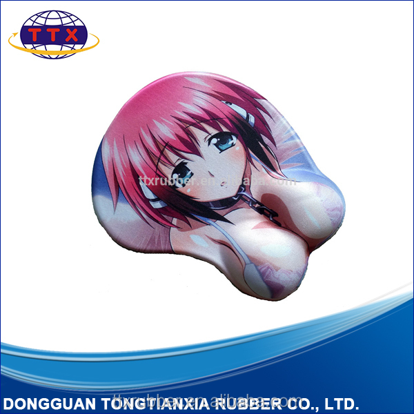 promotional customized silica gel mouse pad with wrist support