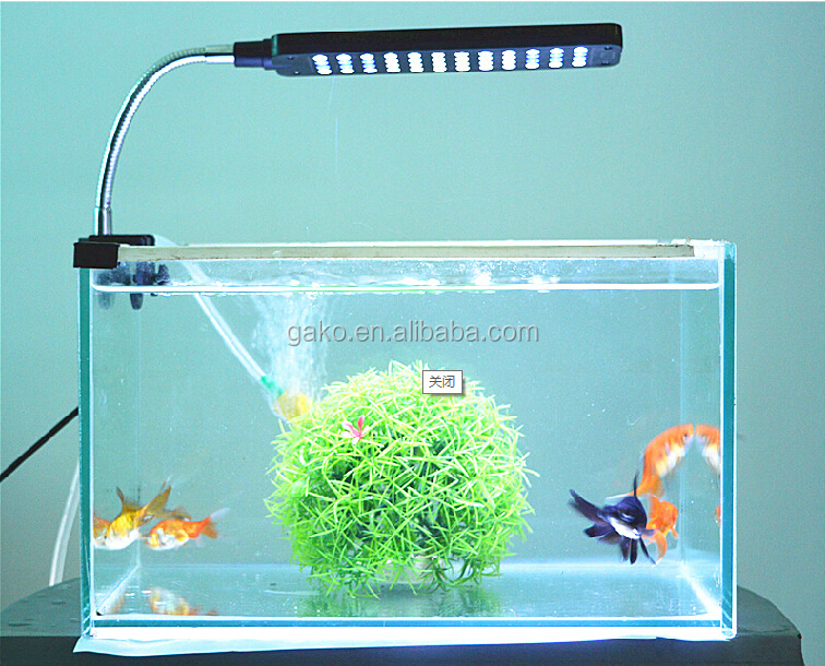 2015 GAKO Wholesale high power dimmable led aquarium clip light,aquarium jellyfish,aquarium decoration