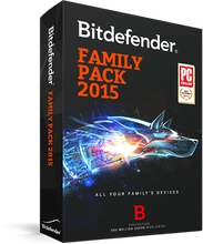 Bitdefender Family pack 2015 - 1 year/ 3 users