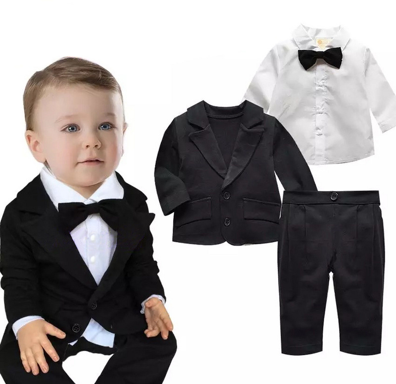 boutique latest hot selling 2017 high quality three-piece suits boys wedding suits