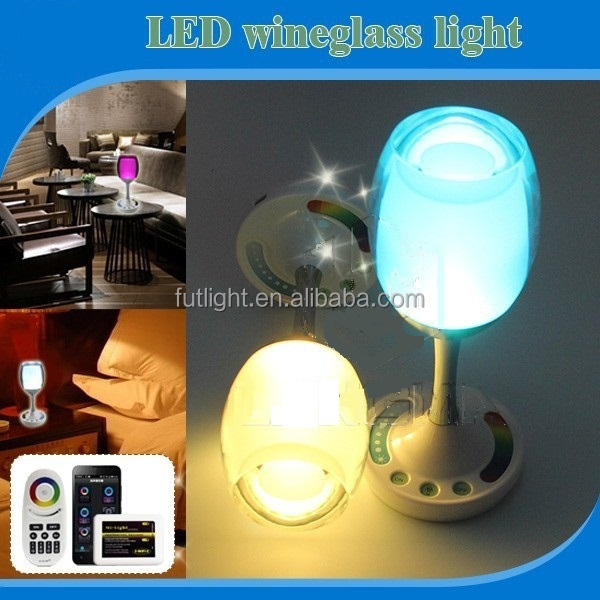 WIFI cup design led lighting bulb, USB charge RGB warm white led table lamp light