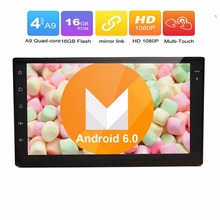 Universal Car Stereo Double Din In Dash Android 6.0 GPS Navigation System Radio 7 inch Touch Screen BT OBD2 WiFi 3G CAM-IN USB