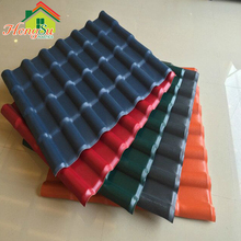 plain roof tile type plastic building materials for house Spanish Style Synthetic Resin Roof Tile