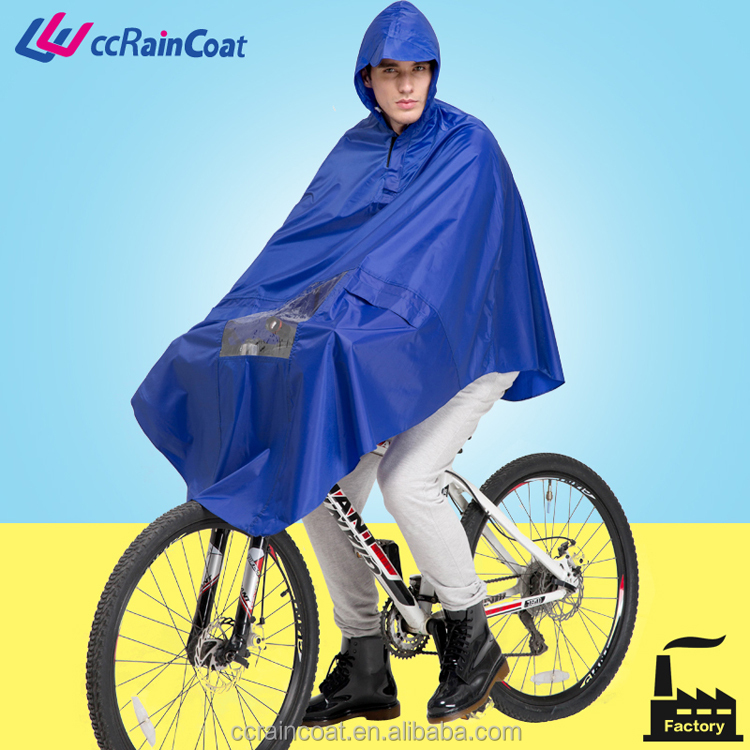 cheap Polyester motorcycle raincoat/poncho
