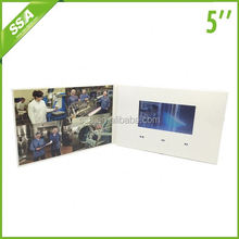 handmade Customized 5 display video greeting card with 512MB memory USB for Festival