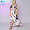 Wholesale Clothing Floral Printed Casual Wrap Maxi Dress
