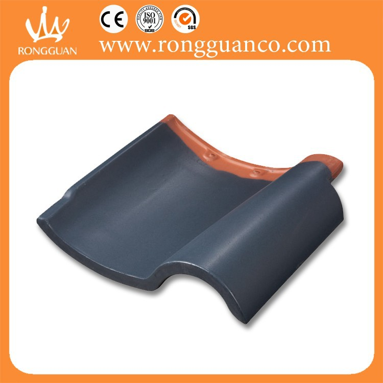 glazed clay roof tile with many color