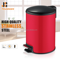 Stainless Steel Foot Pedal Dustbin With