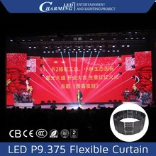 Flexible video outdoor/indoor led stage led curtain tv display HD mesh screen for show