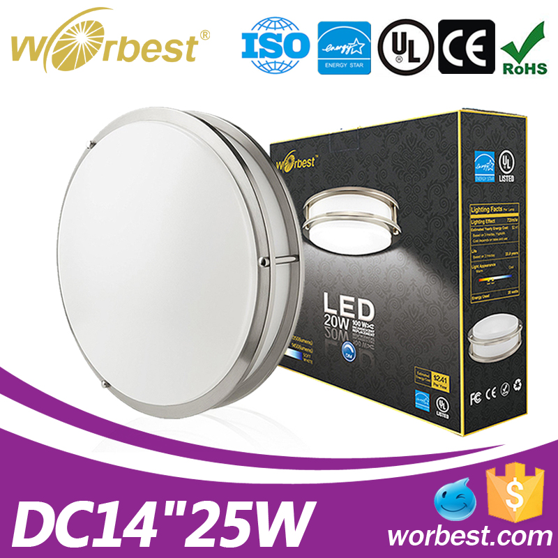 14inch 25w 4000K commercial industrial led lighting round led ceiling lights