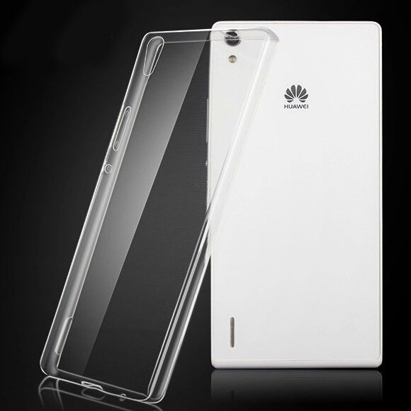 Wholesale Ultra-thin TPU Transparent Protective Case for Huawei Ascend P7