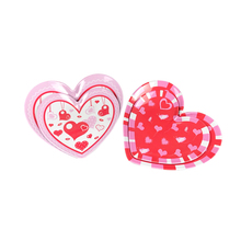 Melamine heart shaped dinner plates