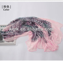 Bulk Price Fashion Femsle 100% Polyester Scarf/Shawl,W3026