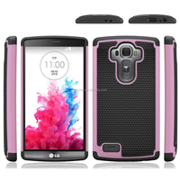 Shockproof Alligator Skin cushioning soft TPU bumper and hard polycarbonate plastic shell Case cover for LG G3