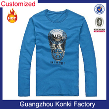 Hotsale long sleeve O neck custom logo printing funny boys fancy cartoon t shirts