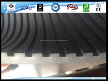 FACTORY PRICE FLAT BROAD RIBBED RUBBER NON SLIP MATTING ROLLS WIDE Corrugated Sheet