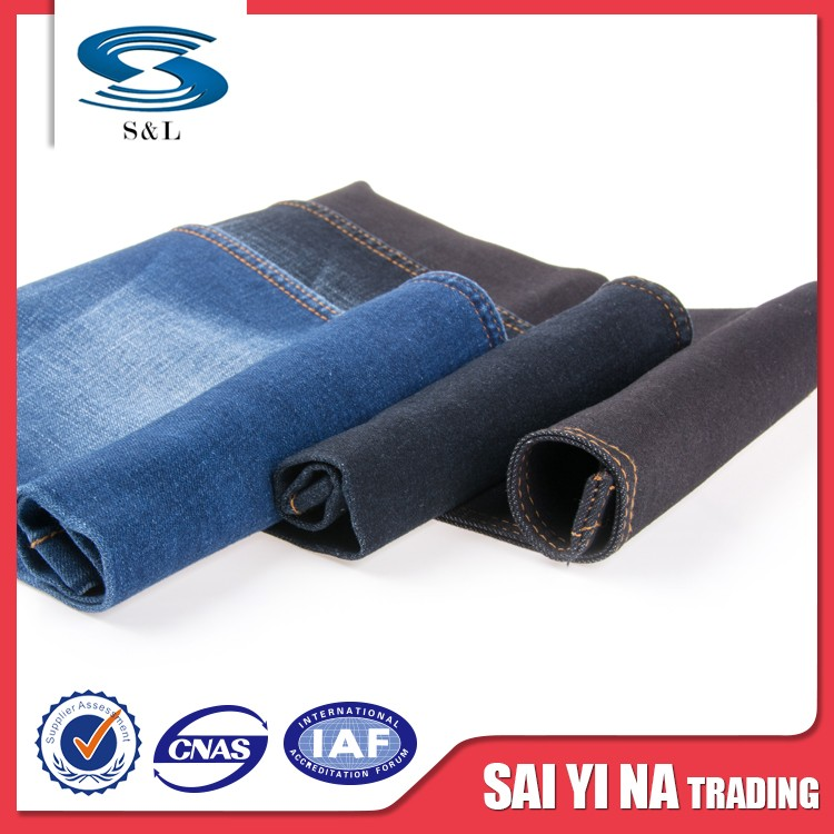 Types of jeans material polyester pants spandex denim fabrics garment