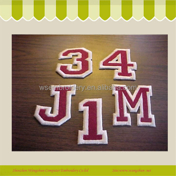 High Quality Machine Letter Towel Embroidery Patch Iron On Garment