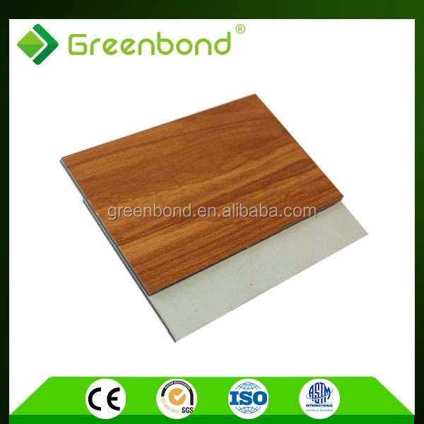 Greenbond aluminum composite external wood wall cladding with lowest cost