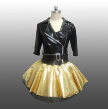 MBQ1076 Adult sexy black gold lycrial stage performance dance costumes child ballet ruffle tutu dress