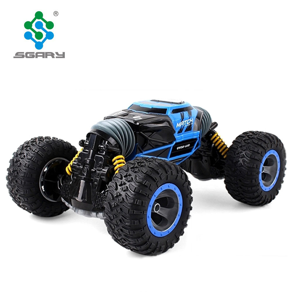 <strong>1</strong>:10 Scale Double-sided 2.4GHz RC Car One Key Rock crawler All-terrain Vehicle Varanid Climbing Car Remote Control Toys