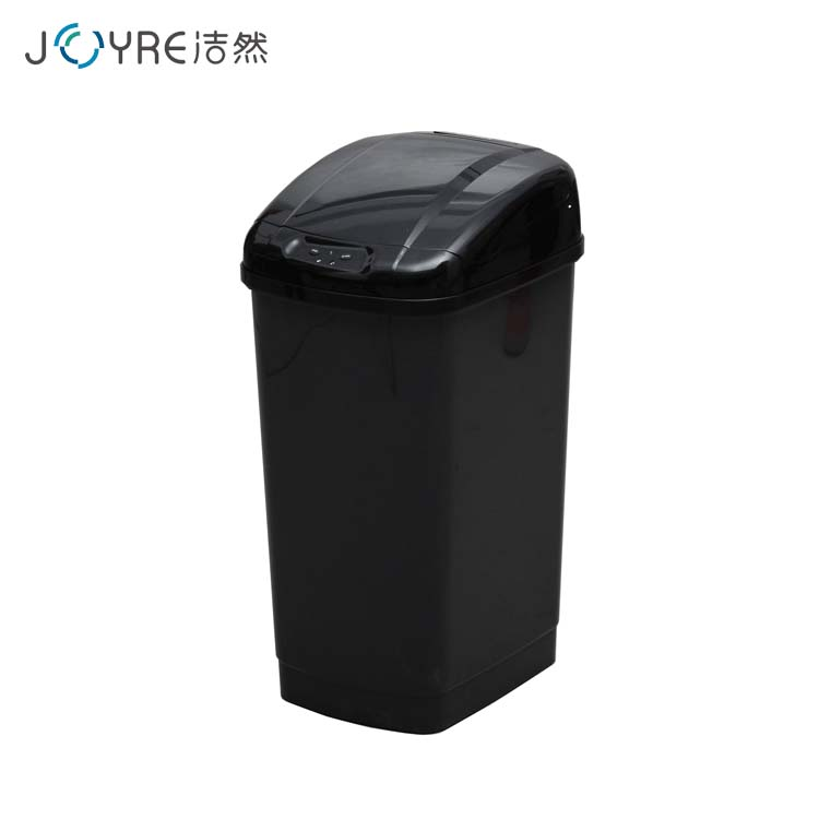 high cost performance 27L square shape pop up black plastic waste bin