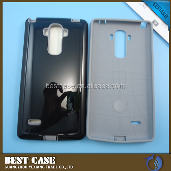 China suppliers custom design clear phone case for lg g3 stylus 2 in 1 back cover
